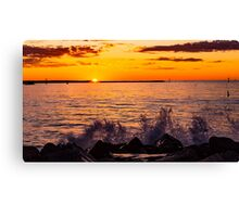 Sunset over Champion Bay Canvas Print