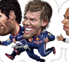 Formula 1 drivers 2010 - the championship battle! Sticker