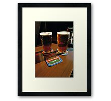 Two pints of beer, UK, 1980s Framed Print