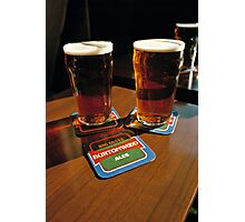Two pints of beer, UK, 1980s Photographic Print