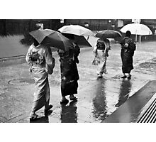 Caught In The Rain Photographic Print
