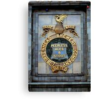 Historic brewery sign, England, UK Canvas Print