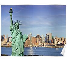 NYC Cityscape over Hudson River Poster