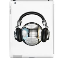 Headphone disco ball iPad Case/Skin