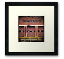 Stowe Hardware 3 Doors Framed Print