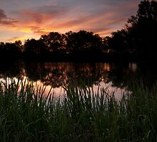Sunrise at Cossington South Lakes #2 by Andy Stafford