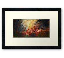 Red Bonfire Framed Print