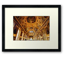 Louvre Museum interior, Paris Framed Print