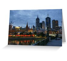 Melbourne Twilight Greeting Card