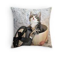 Gift of a kitten Throw Pillow