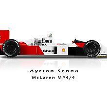 Ayrton Senna - 1988 McLaren Honda MP4/4 by JageOwen