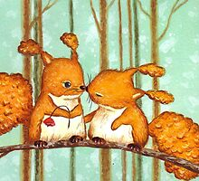 Birthday Squirrels by Irene Owens