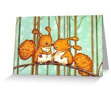 Birthday Squirrels Greeting Card