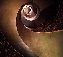 Spiral concrete modern staircase by JBlaminsky