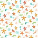 Cute Sea Life Pattern by 4ogo Design