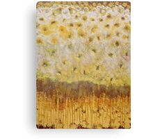 Abstract yellow painting Canvas Print