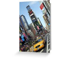 new york city, times square, taxi Greeting Card