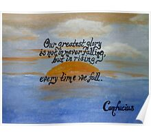 Confucius Quote Over Acrylic Poster