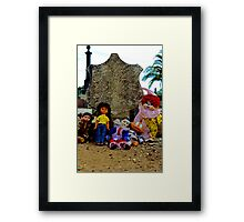 Doll Gravestone Gang Framed Print