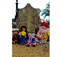 Doll Gravestone Gang Photographic Print
