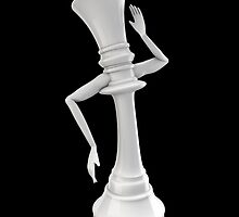 Feminine chess queen by GrandeDuc