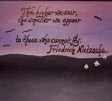 Friedrich Nietzsche Quote On Acrylic by Works By  Barbara