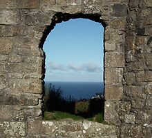 View through a Cornish tin mine by Dawn Warren