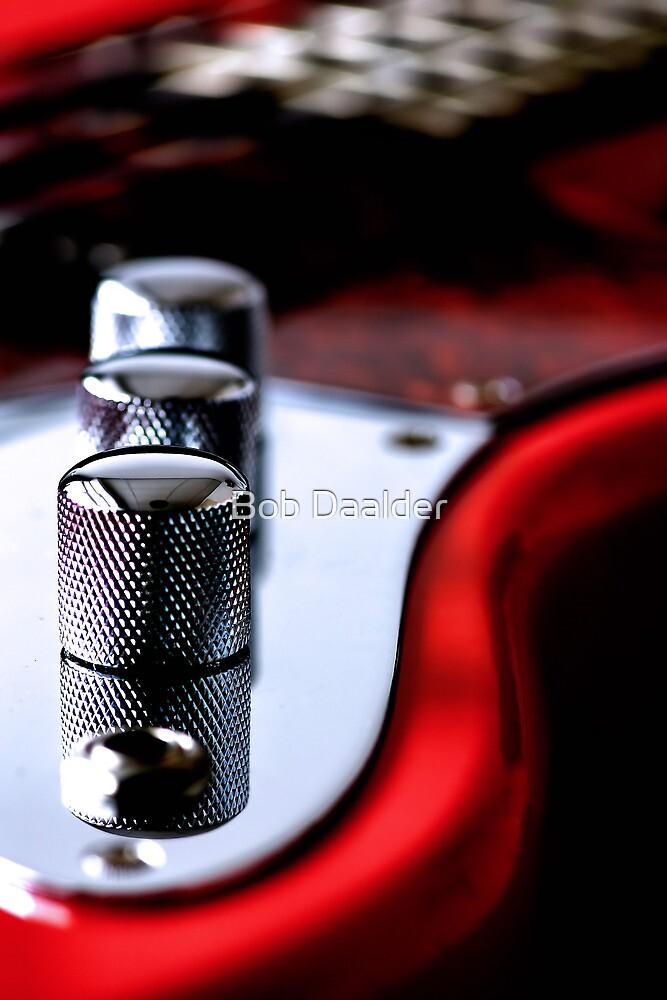 Red Guitar by Bob Daalder