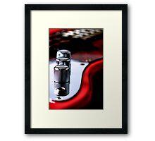 Red Guitar Framed Print