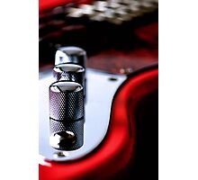 Red Guitar Photographic Print