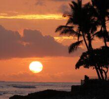 Ewa Beach, Hawai'i  Sunset Sticker