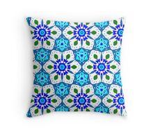 Floralie Blu Throw Pillow