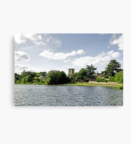 Across the Pool at Melbourne Hall Canvas Print