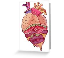 Inner Fast Food Greeting Card