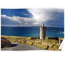 Doolin Irish Castle, County Clare, Ireland Poster