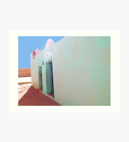 Beautiful Algeria - Love those Turquoise Buildings Art Print