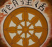 Buddhism -  Dharma Wheel by melvau