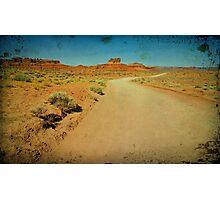 Utah red sandstone landscape, desert road Photographic Print