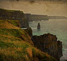 Cliffs of Moher, Grunge landscape, county clare, ireland by upthebanner