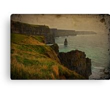 Cliffs of Moher, Grunge landscape, county clare, ireland Canvas Print