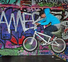 BMX graffiti by woolleyfir