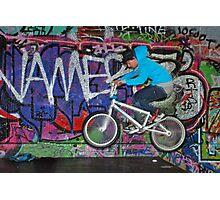 BMX graffiti Photographic Print