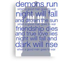 Demon runs Canvas Print
