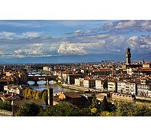 Bridges Over The Arno River Photographic Print