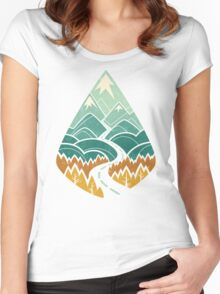 The Road Goes Ever On: Autumn Women's Fitted Scoop T-Shirt