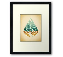 The Road Goes Ever On: Autumn Framed Print