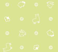Yarnimals - Green by Alex Broadbent