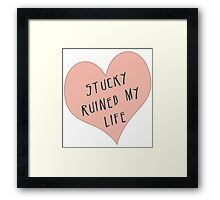 Stucky ruined my life Framed Print