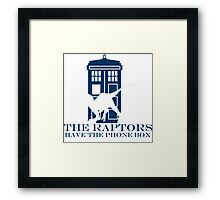 The raptors have the phone box 2 Framed Print