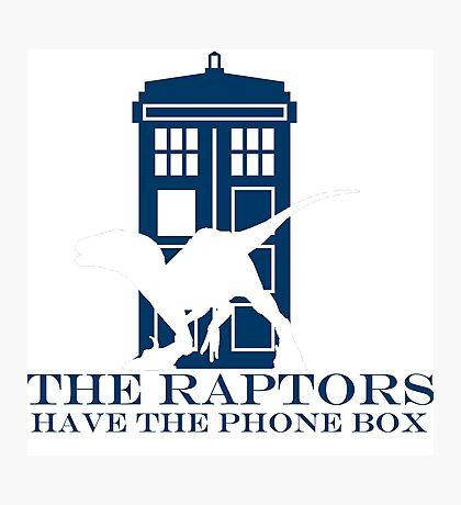 The raptors have the phone box 2 Photographic Print